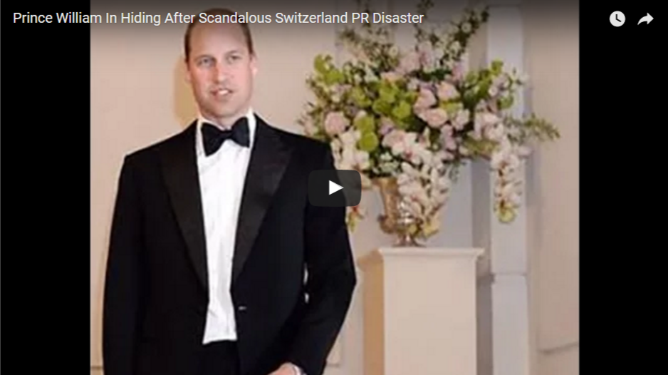 Prince William In Hiding After Scandalous Switzerland PR Disaster