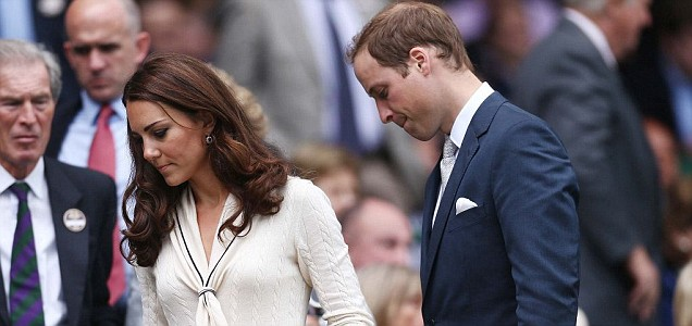 Prince William and Kate Middleton upset