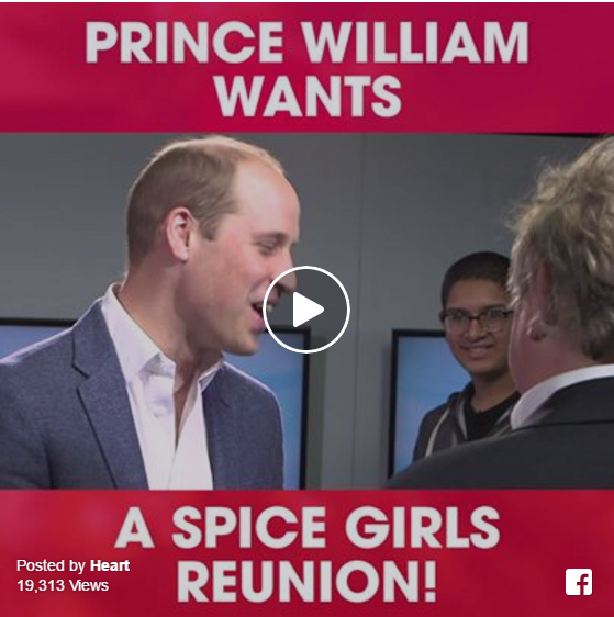 Prince William asks Emma Bunton about the Spice Girls reunion