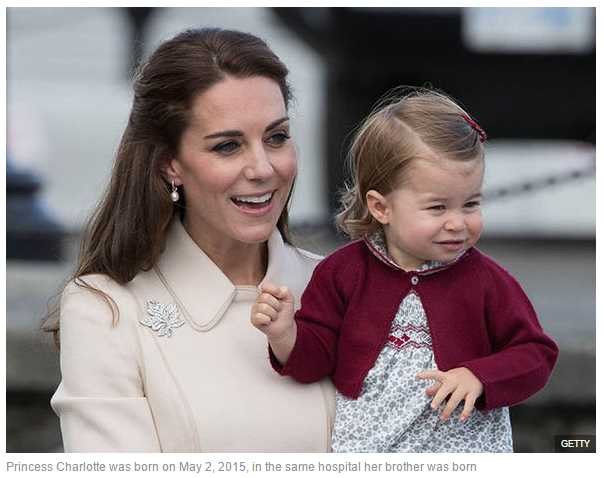 Princess Charlotte was born on May 2 2015 in the same hospital her brother was born