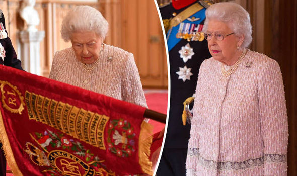 Queen honours The Royal Lancers at Windsor Castle as she pays tribute to their loyalty Photo C PA