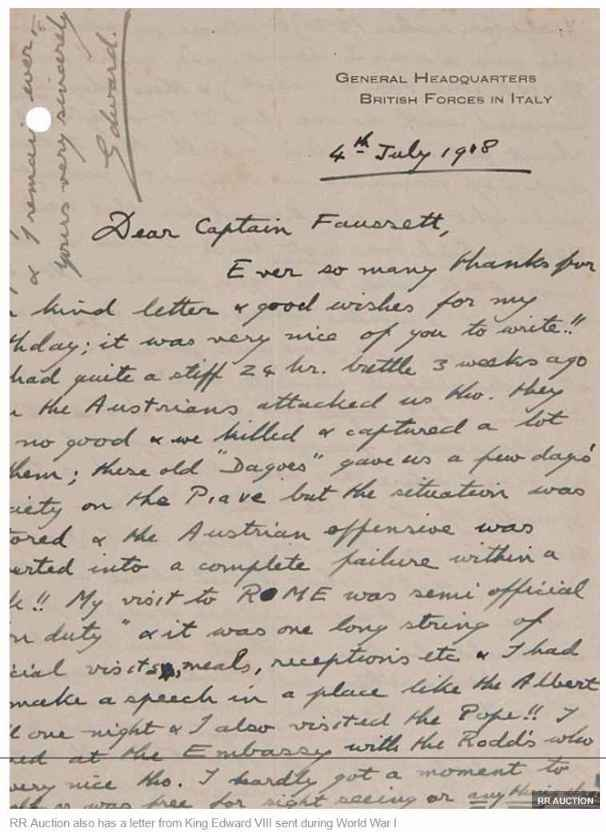 RR-Auction-also-has-a-letter-from-King-Edward-VIII-sent-during-World-War-I