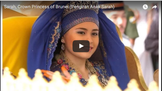 Sarah Crown Princess of Brunei Pengiran Anak Sarah