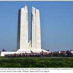 The Canadian National Vimy Memorial in Vimy near Arras northern France on April 9 2017