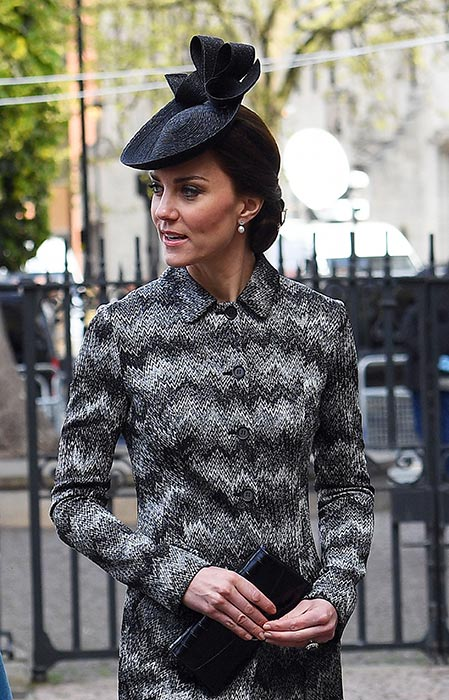 Kate rewears Missoni coat for Westminster service Photo C GETTY IMAGES