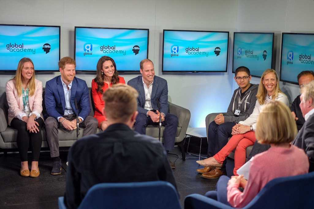 The Duke and Duchess and Prince Harry joined @TheGAcademy students and @global presenters for a roundtable conversation on Mental Health Photo C TWITTER