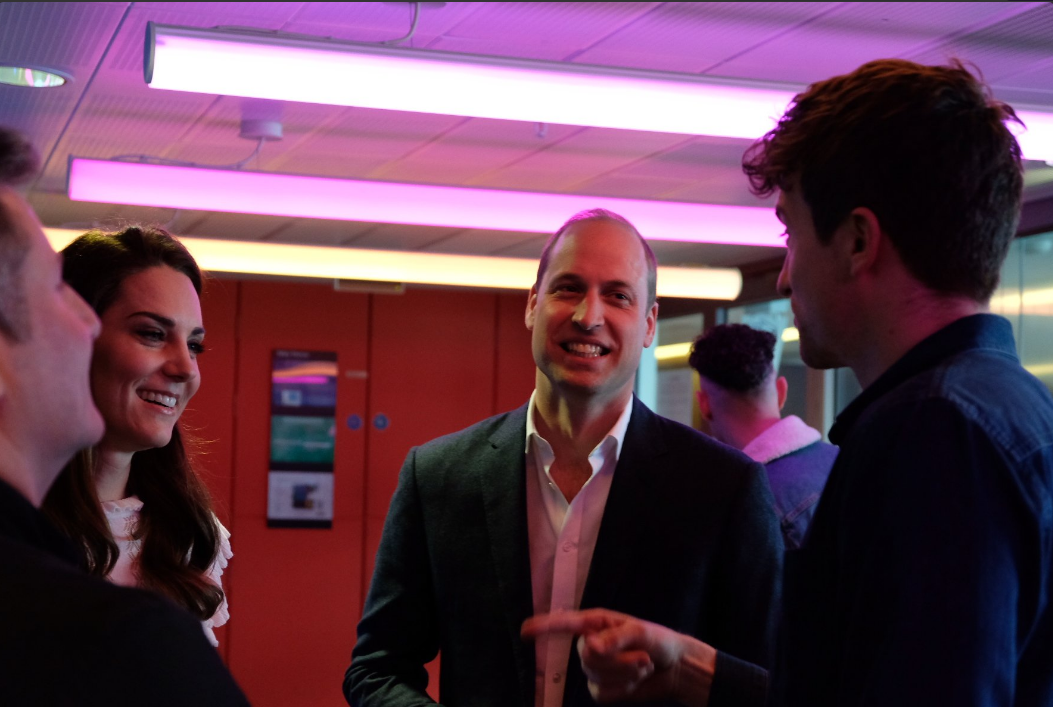 The Duke and Duchess of Cambridge are visiting @BBCR1 to surprise @AdeleRoberts with @gregjames & @scott_mills #teamheadstogether Photo (C) TWITTER