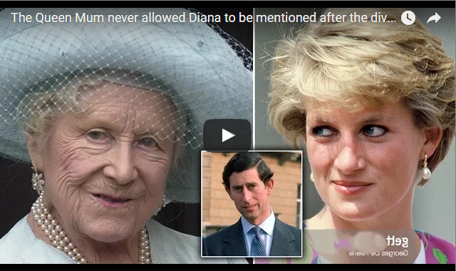 The Queen Mum never allowed Diana to be mentioned after the divorce