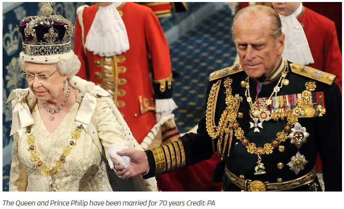 The Queen and Prince Philip have been married for 70 years Credit