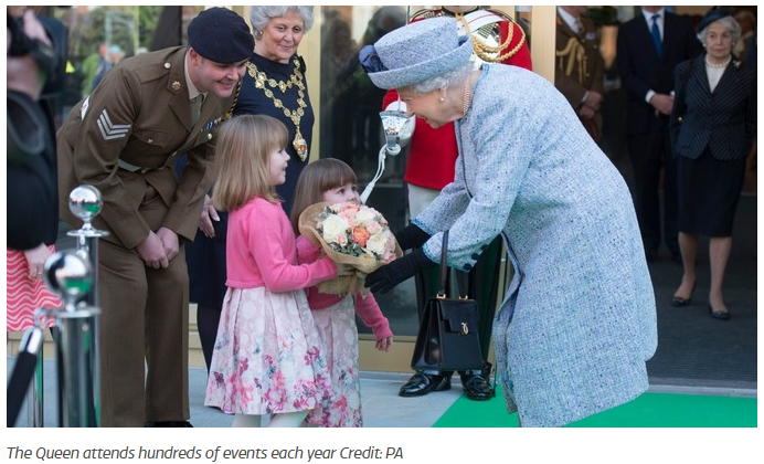 The Queen attends hundreds of events each year Credit