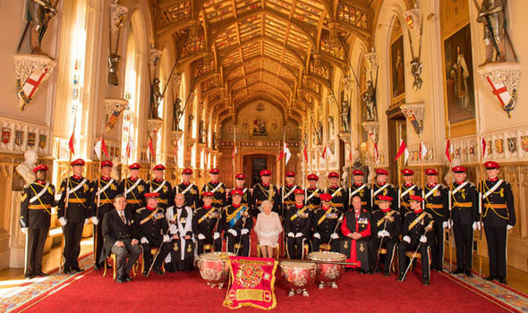 The Queen praised the Lancers for being a force without match Photo C PA