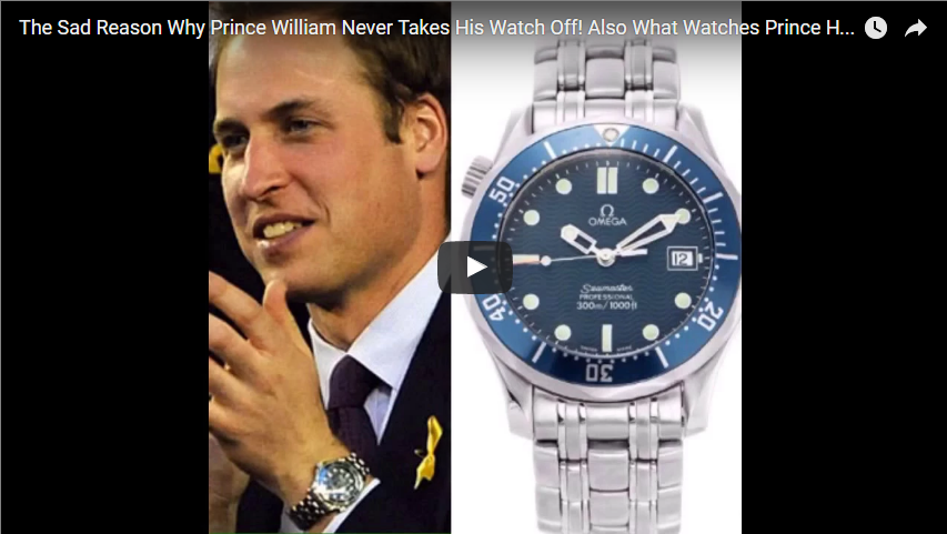 The Sad Reason Why Prince William Never Takes His Watch Off