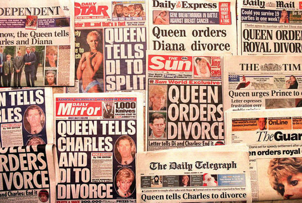 The royal couple divorced in 1996 and Princess Diana died a year later Photo (C) GETTY