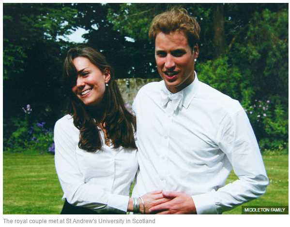 The royal couple met at St Andrew's University in Scotland