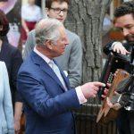 The royal couple were visiting the Weinbau Buscheschank Obermann vineyard in Vienna Photo C GETTY