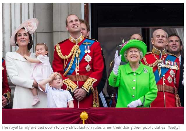 The royal family are tied down to very strict fashion rules when their doing their public duties Getty