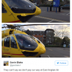 They cant say we dont pay our way at East Anglian Air Ambulance Photo C TWITTER
