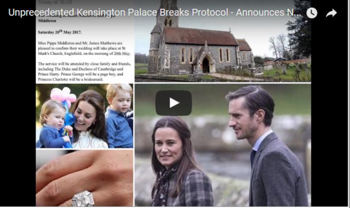 Unprecedented Kensington Palace Breaks Protocol Announces Non Royal Pippa Middletons Wedding