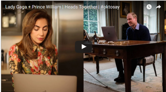 Watch Video Lady Gaga and Prince William Joined Social Media To Talk on Mental Health Issue