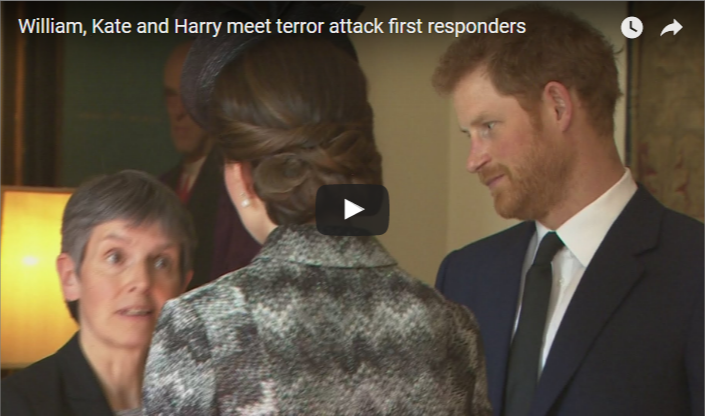 William Kate and Harry meet terror attack first responders