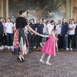 01 Princess Estelle and Prince Oscar steal the show while meeting Swedish National Ice Hockey team. Photo C REX