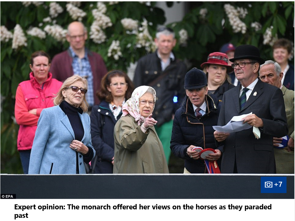 The QueenQueen's attention seemed focused on other matters as the Duke of York talked to Hamad bin Isa Al Khalifa at the Royal Windsor Horse Show yesterday