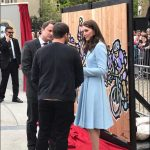 01 The Duchess helps unveil murals of British and Luxembourg @LeTour legends prepared by @JamesStraffon Photo C KENSINGTONROYAL TWITTER