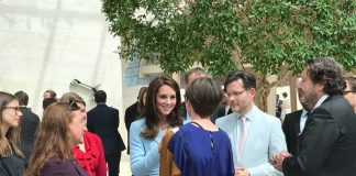 The Duchess chats to leading young people in the fields of culture, education, business and the charitable sector Photo (C) KENSINGTONROYAL TWITTER