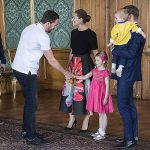 03 Princess Estelle and Prince Oscar steal the show while meeting Swedish National Ice Hockey team. Photo C REX