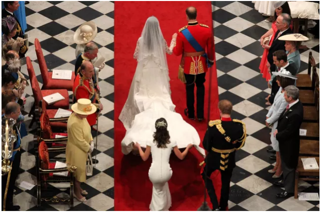 Prince William and Catherine Duchess of Cambridge Wedding Photo (C) GETTY IMAGES