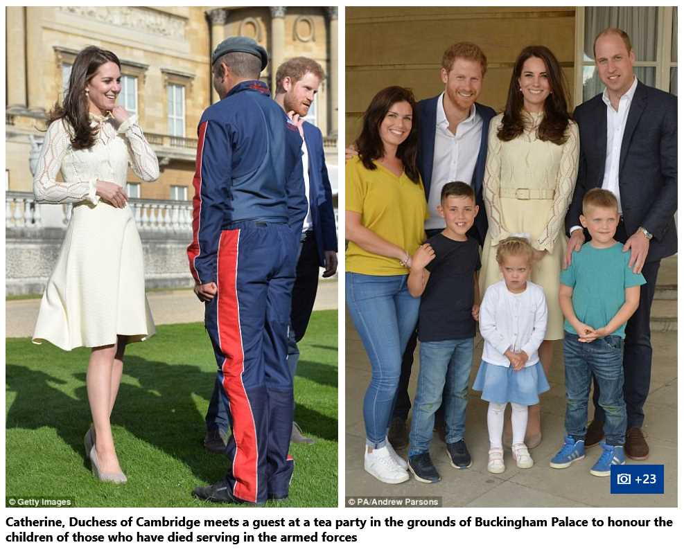 25 Catherine Duchess of Cambridge Prince William and Prince Harry Children Party at Buckingham Palace Photo C ANDREW PARSAON pA
