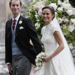 Bride Pippa Middleton and her new husband James Matthews cheer and wave as they leave the private estate 0004