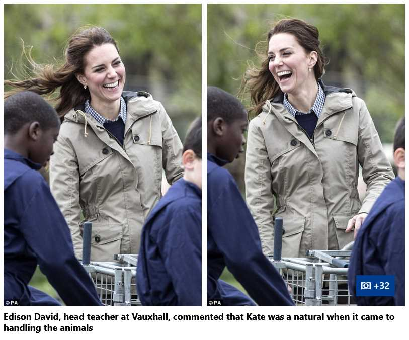 Catherine Duchess of Cambridge Handling Animals