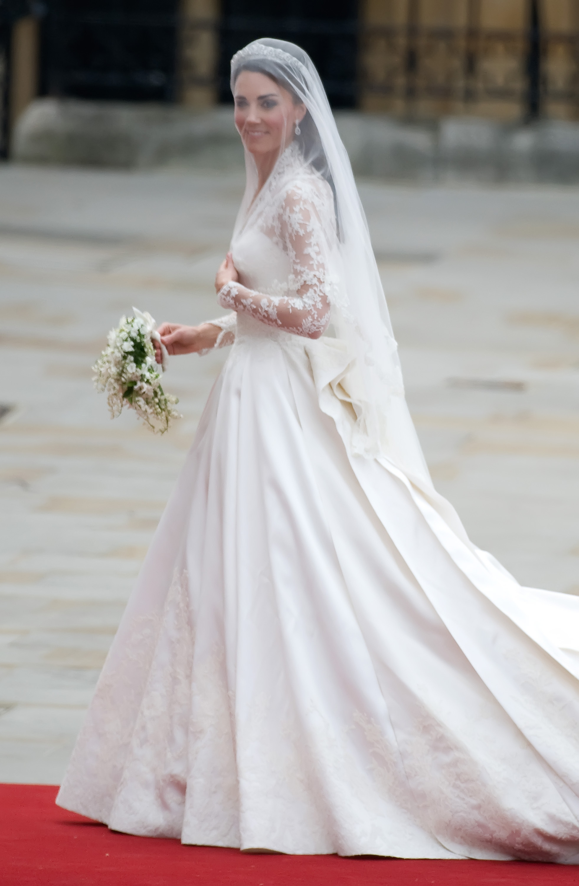 Catherine Middleton arrives at Westminster Abbey to marry Prince William on April 29, 2011. **Not Available for Publication in France. Available for Publication in the Rest of the World** Credit Mandatory: Zak Hussein/WENN.com