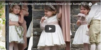 Cute Picture of Princess Charlotte as Bridesmaid at Her Auntie Pippas Wedding