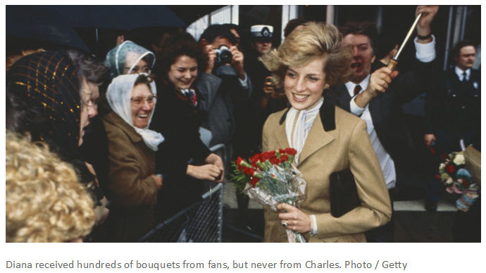 Diana received hundreds of bouquets from fans, but never from Charles