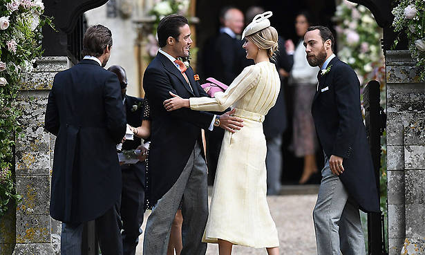 Guests start arriving for Pippa Middleton and James Matthews' wedding Photo (C) GETTY IMAGES
