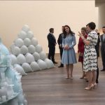 HRH tours current exhibitions by British artists Sir Tony Cragg Darren Almond and hears about iconic works of art Photo C KENSINGTONROYAL TWITTER