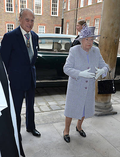 He attended a service for members of the Order of Merit with the Queen Photo C GETTY IMAGES