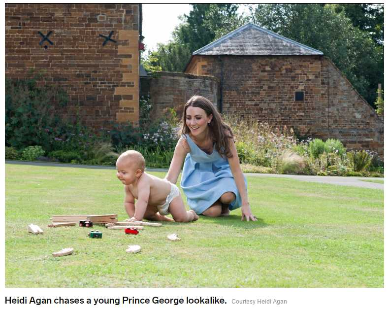 Heidi Agan chases a young Prince George lookalike