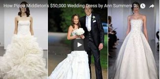 How Pippa Middletons 50000 Wedding Dress by Ann Summers Designer Giles Deacon