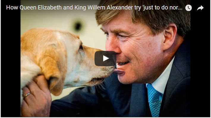 How Queen Elizabeth and King Willem Alexander try just to do normal in pictures