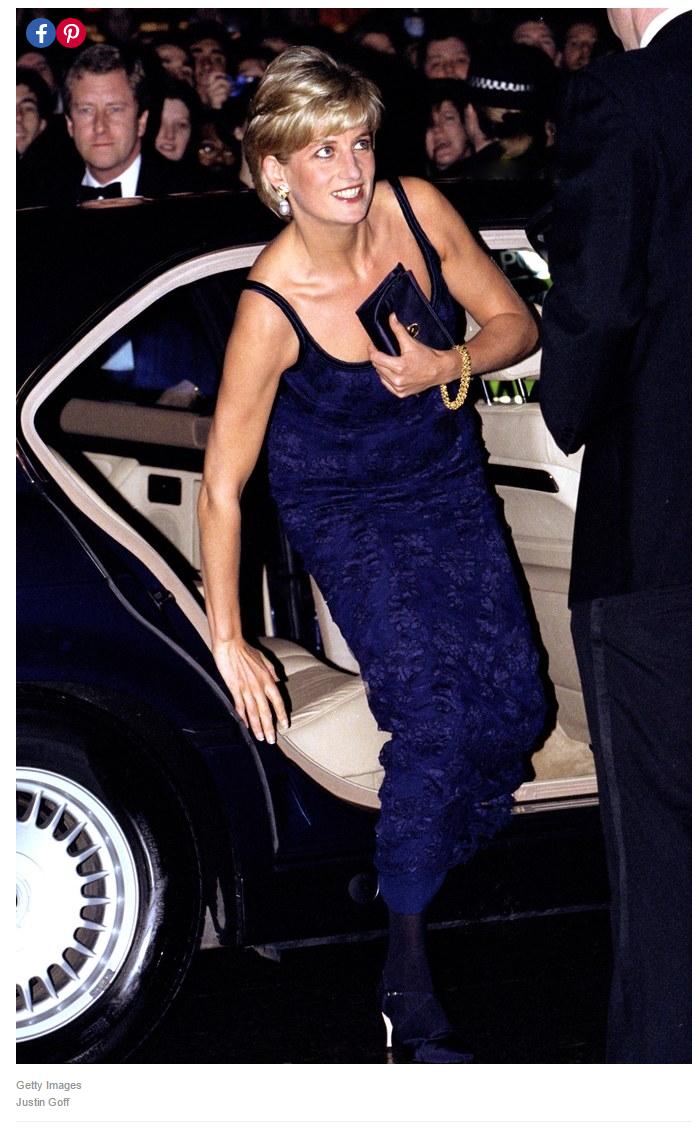 ARGENTINA NOVEMBER 24 Diana Princess of Wales arriving for a dinner in Argentina Her dress is designed by fashion designer Catherine Walker