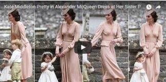 Kate Middleton Pretty in Alexander McQueen Dress at Her Sister Pippas Wedding 1
