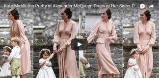 Kate Middleton Pretty in Alexander McQueen Dress at Her Sister Pippas Wedding