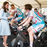 Kate Middleton also took in a cycling festival while in the capital Getty