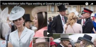 Kate Middleton talks Pippa wedding at Queens garden party