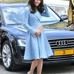 Kate looked elegant in a pale blue Emilia Wickstead coat dress Photo C GETTY IMAGES