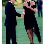 LONDON JUNE 29 FILE PHOTO Lord Palumbo greets Princess Diana wearing a short black cocktail dress designed by Christina Stambolian