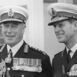 Lord Mountbatten and Prince Philip in Royal Marines uniforms Photo C GETTY